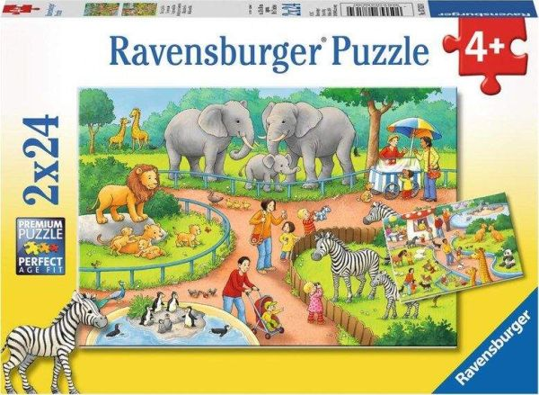 Puzzle Zoo 2x24 Teile